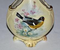 Locke & Co Worcester Vase C1898 /1902 - Signed Lewis (2 of 6)