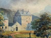Fine 19th Century Regency Gilt Show-Framed Castle Landscape Watercolour Painting (5 of 14)