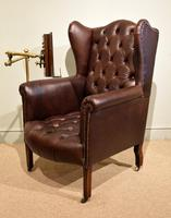 Edwardian Mahogany Leather Wing-back Armchair (10 of 10)