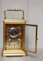 Bell Striking and Repeating and Alarm Gorge Case Carriage Clock (6 of 11)