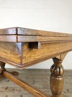 Early 20th Century Oak Draw Leaf Table (14 of 17)