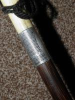 Hallmarked 1922 Silver Walking Stick / Dress Cane With Vacant Cartouche (3 of 12)