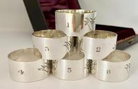 Set of Six Silver Plated Napkin Rings (2 of 6)