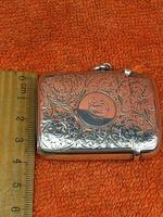 Antique Sterling Silver Hallmarked Large Vesta Case Sirus 1900, Horton & Allday (7 of 9)