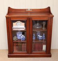 Mahogany Display Bookcase