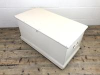 Victorian Cream Painted Pine Trunk (4 of 12)