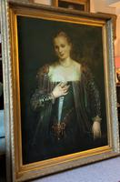 Oil Portrait Painting Wealthy European Noble Lady
