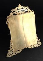 Gothic Revival Brass Two Door Easel Photo Frame (6 of 6)