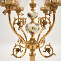 French Style Brass & Glass Table Lamp (6 of 10)