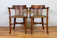 Vintage 1930s Oak Office Chair With Fresh Leather Seat x 2 (9 of 11)