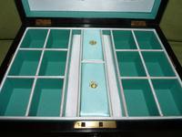Quality Inlaid Burr Walnut Jewellery Box + Tray. c1875. (3 of 12)