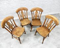 Set of 4 Windsor Lyreback Kitchen / Dining Chairs (3 of 6)