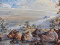Watercolour The Glen Monogrammed A M 1863 (7 of 12)