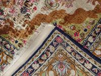 Antique Kashmir Silk Carpet (5 of 8)