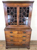 19th Century Oak Two Stage Bookcase (2 of 11)