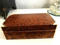 Art Deco Burr Walnut Trinket / Tobacco Box (4 of 7)