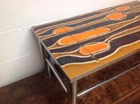 1960s Volcanic Tile Coffee Table on Chrome Supports (3 of 7)