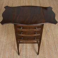 Chest of Drawers Mahogany Bowfront Drop Leaf 19th Century Petite (5 of 11)