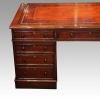 Victorian Mahogany Pedestal Desk (9 of 10)