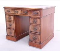 18th Century Mahogany Pedestal Writing Desk (7 of 12)