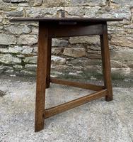 Antique Georgian Oak Cricket Table (4 of 15)