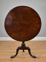 George III Mahogany Tilt Top Table Tripod Table
