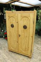 Fabulous Old Pine 2 Door Cupboard / Linen Cupboard / Food / Larder with Shelves  - We Deliver! (6 of 11)