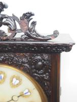 Rare Early Wall Clock Large Dial Rosewood 8 Day Striking Vienna Wall Clock (3 of 10)