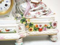 Original Meissen Porcelain Mantel Clock Figural Striking 8-Day Mantle Clock c.1860 (4 of 6)