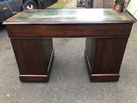 Antique Mahogany Pedestal Writing Desk (10 of 11)