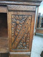 Carved Oak Revolving Bookcase (7 of 8)