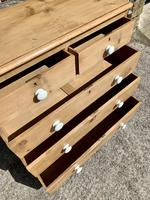 Antique Victorian Stripped Pine Chest of Drawers (12 of 15)