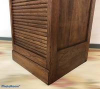 Antique French Tall Filing Cabinet Tambour Roller Shutter (4 of 10)