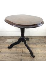 Antique Victorian Mahogany Oval Top Side Table (3 of 10)