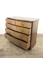 Edwardian Inlaid Mahogany Serpentine Chest of Drawers by Waring (M-1489) (11 of 16)