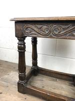 Antique Oak Joint Stool with Carved Detail (11 of 13)