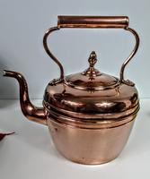 Late Victorian / Early 20th Century Copper Kettle (4 of 6)