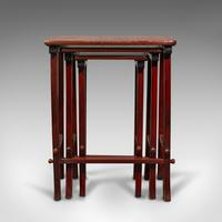 Antique Nest of 3 Occasional Side Tables, Oriental, Japanned, Victorian c.1900 (8 of 12)