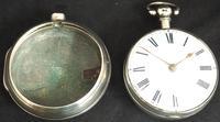 Antique Silver Pair Case Pocket Watch Fusee Verge Escapement Key Wind Enamel Dial Richardson London (7 of 13)