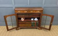 Burr Walnut Bookcase or Side Cabinet (12 of 18)