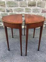 Pair Antique Mahogany Console Tables (9 of 9)