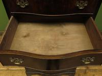 Antique Reproduction Serpentine Chest of Drawers, Chest on Chest by Hekman USA (2 of 17)