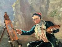 Late 18th Century 'British School' Original Oil Portrait Painting of a Shoreline Artist (8 of 12)
