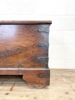 Antique Mahogany Metal Bound Trunk with Wheels (4 of 10)