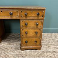 Unusual Victorian Painted Pine Antique Desk (5 of 6)