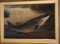English Naive School Oil of a Pike (5 of 6)