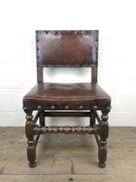 Set of Six Oak and Leather Dining Chairs (12 of 23)