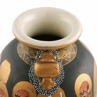 Pair of Japanese Satsuma Vases (3 of 8)