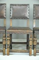 6 Cromwellian Style Brown Leather Dining Chairs (2 of 12)