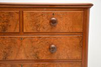 Antique Victorian Burr Walnut Chest of Drawers (6 of 9)